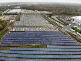 Aerial shot of the Delanco Solar Field